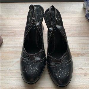Franco Sarto Leather Sling Back High Heels